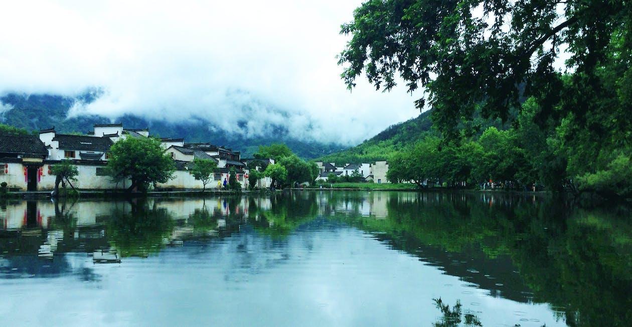 architecture chinoise, huipai, pleuvoir