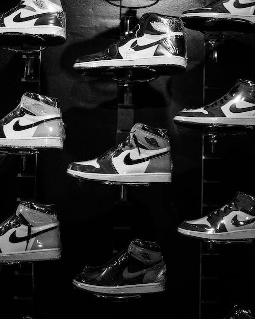Black and White Nike Air Jordan 1 Shoes