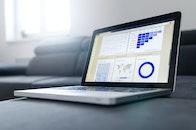 marketing, laptop, table