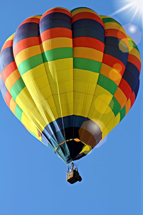 balon, gökyüzü, rengarenk