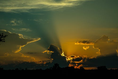 Free stock photo of dark sunset, sky, sunset