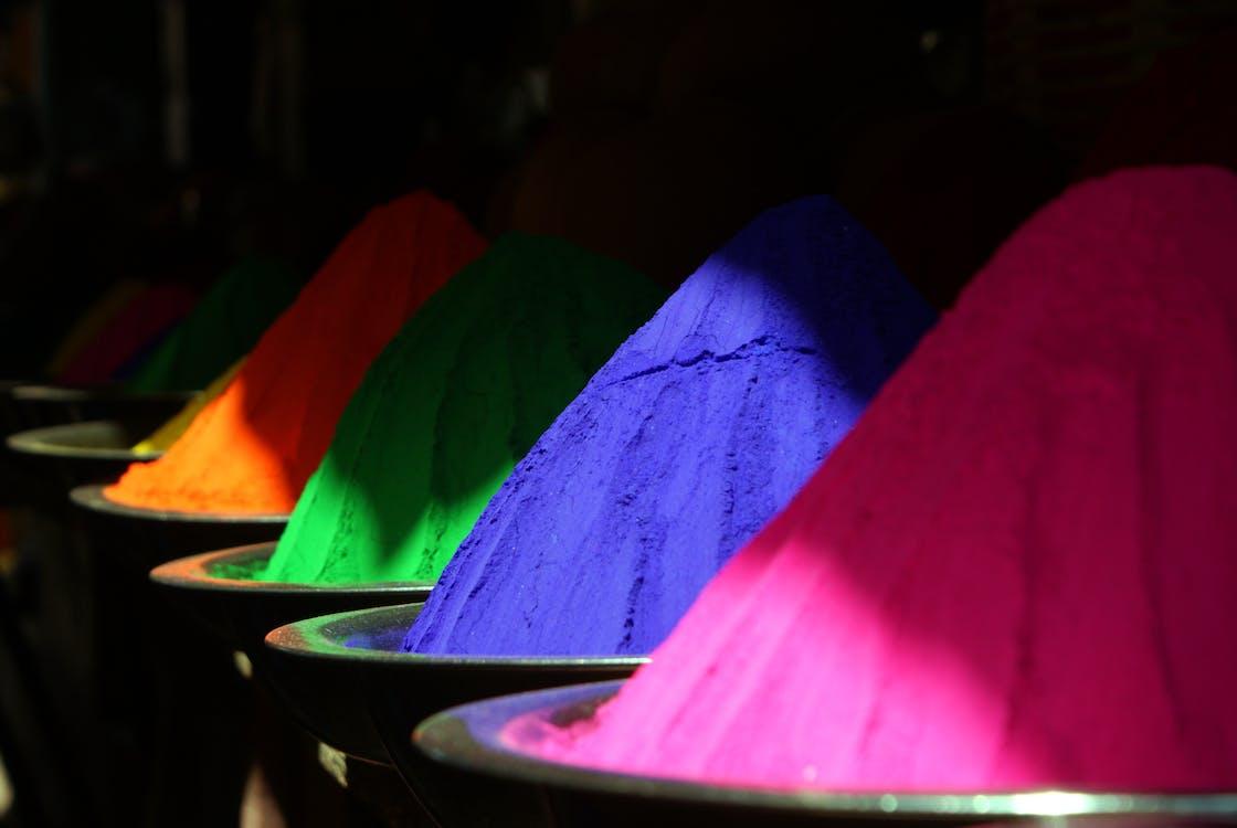 colorido, de colores, holipulver