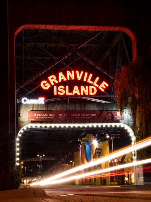 Free stock photo of canada, Granville island, light painting