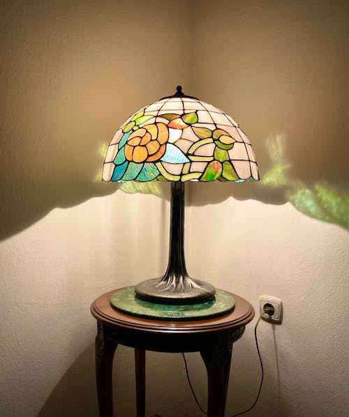 Free stock photo of colorful, desk lamp, mosaic