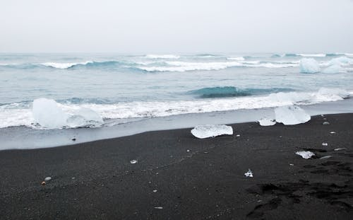 Free stock photo of beach, black, black sand, coast