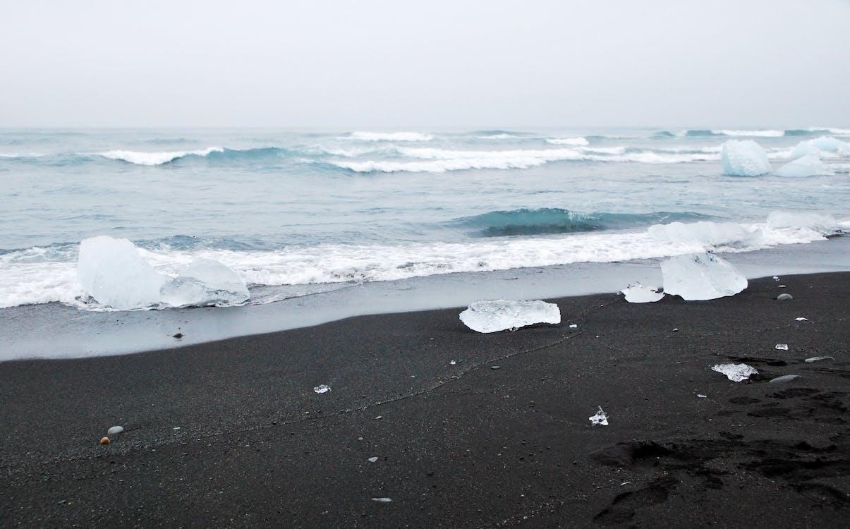 beach, black, black sand