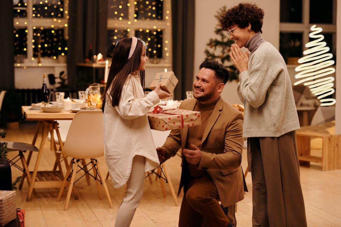 Family Celebrating Christmas Together