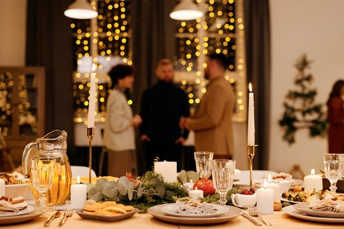 Shallow Focus of Food Served on Dining Table