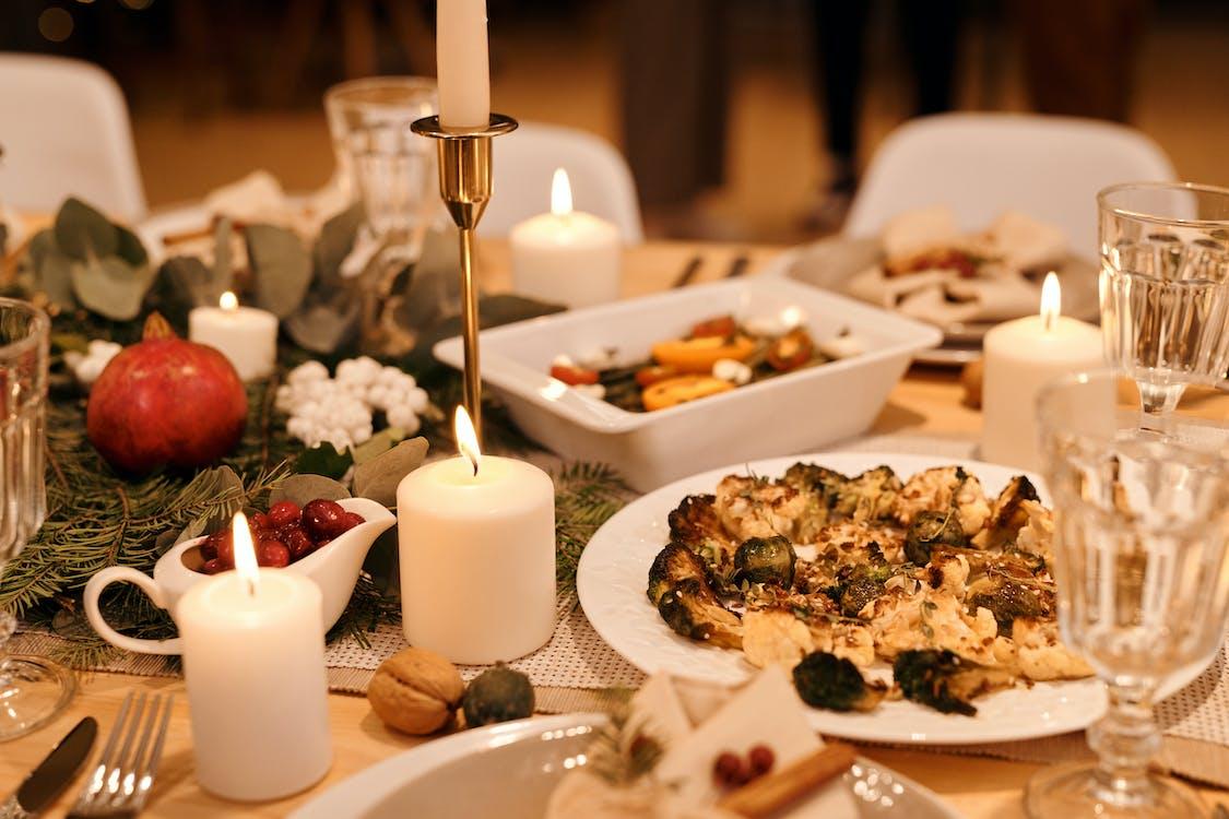 Food Served on Christmas Dinner