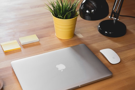 Free stock photo of apple, desk, laptop, macbook