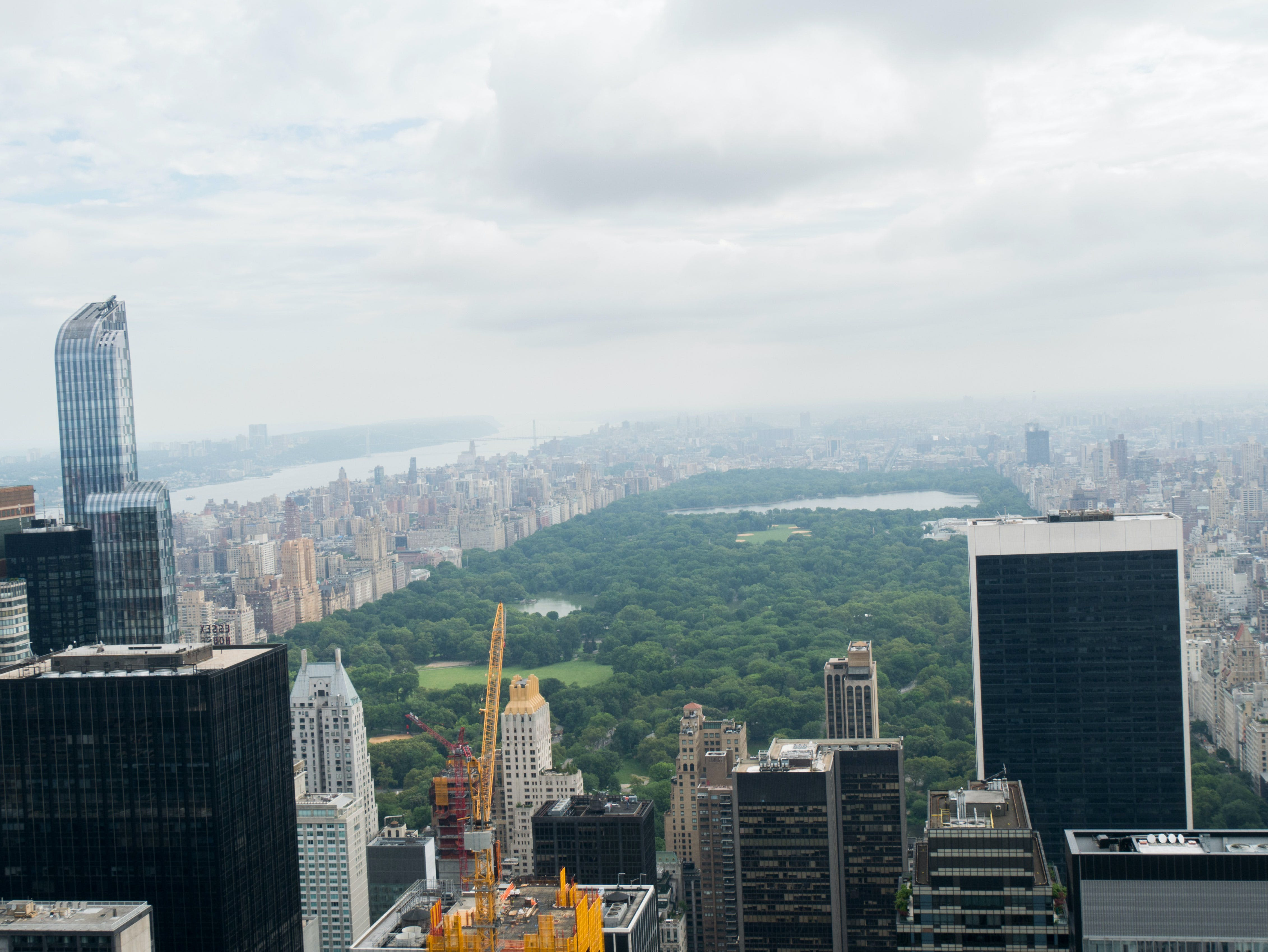 Free stock photo of clouds, buildings, new york, trees