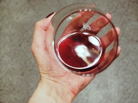 Free stock photo of red, hand, drink, glass