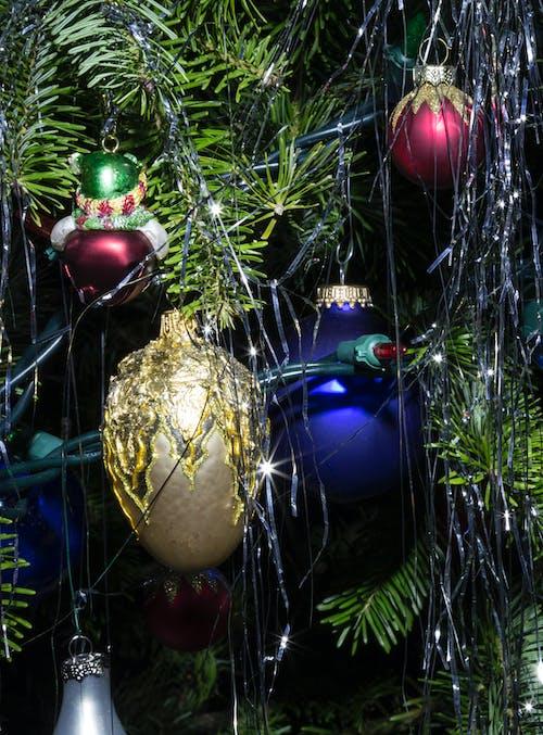 Free stock photo of blue, christmas, christmas balls
