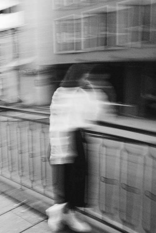 Free stock photo of alone girl, beautiful people, blurry