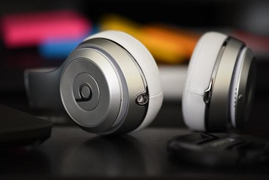 Free stock photo of music, headphones, equipment, detail