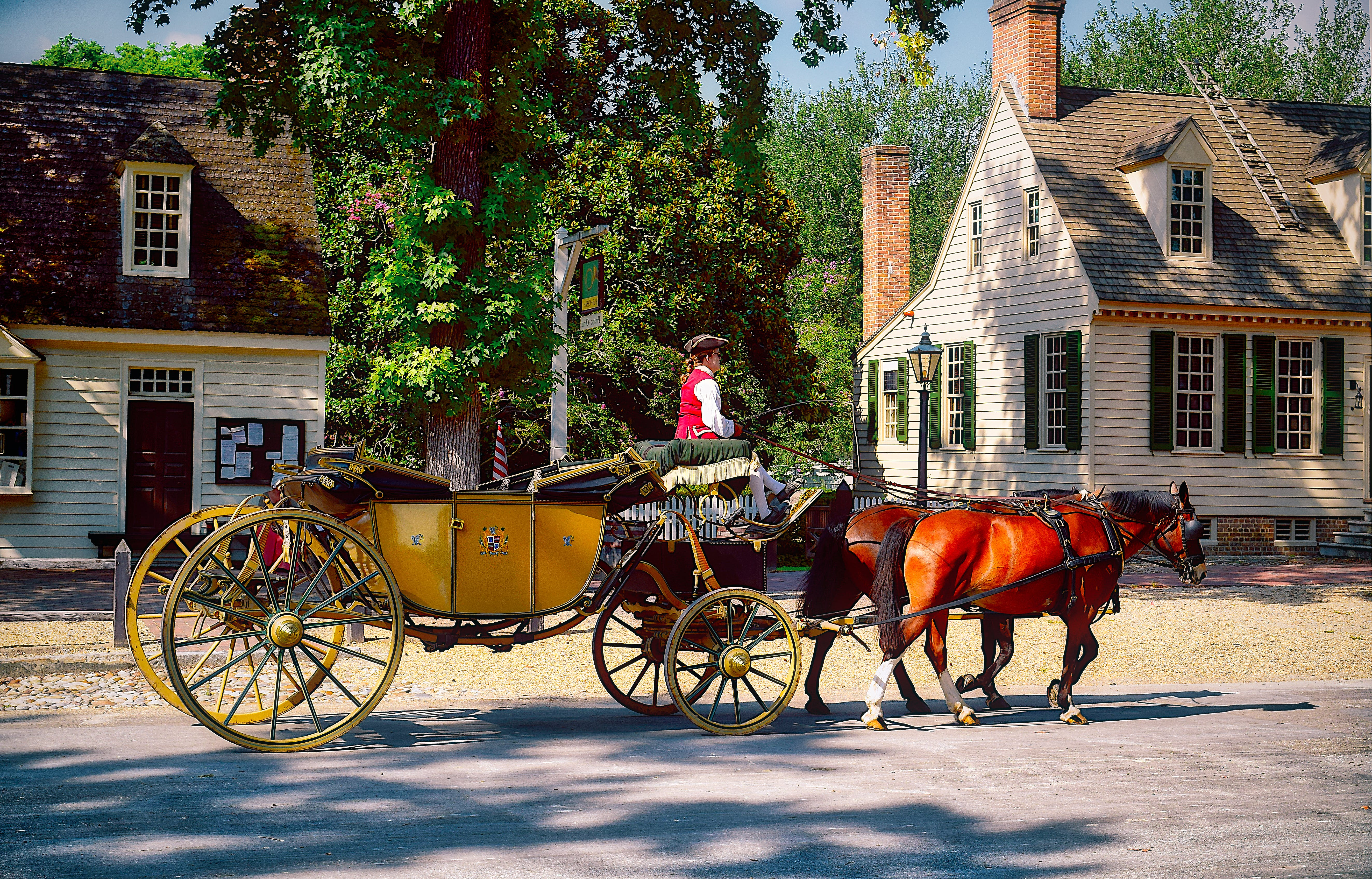 Free stock photo of carriage, colonial, history, williamsburg