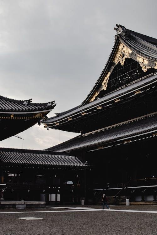 Ilmainen kuvapankkikuva tunnisteilla buddhalainen temppeli, chion-in, harmaa taivas
