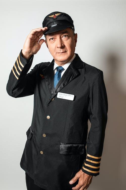 Man Wearing a Pilot Uniform