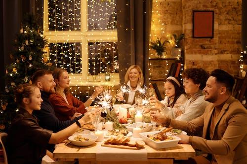 คลังภาพถ่ายฟรี ของ กระแสคริสต์มาส, การจัดสถานที่, การจัดโต๊ะ, การชุมนุม