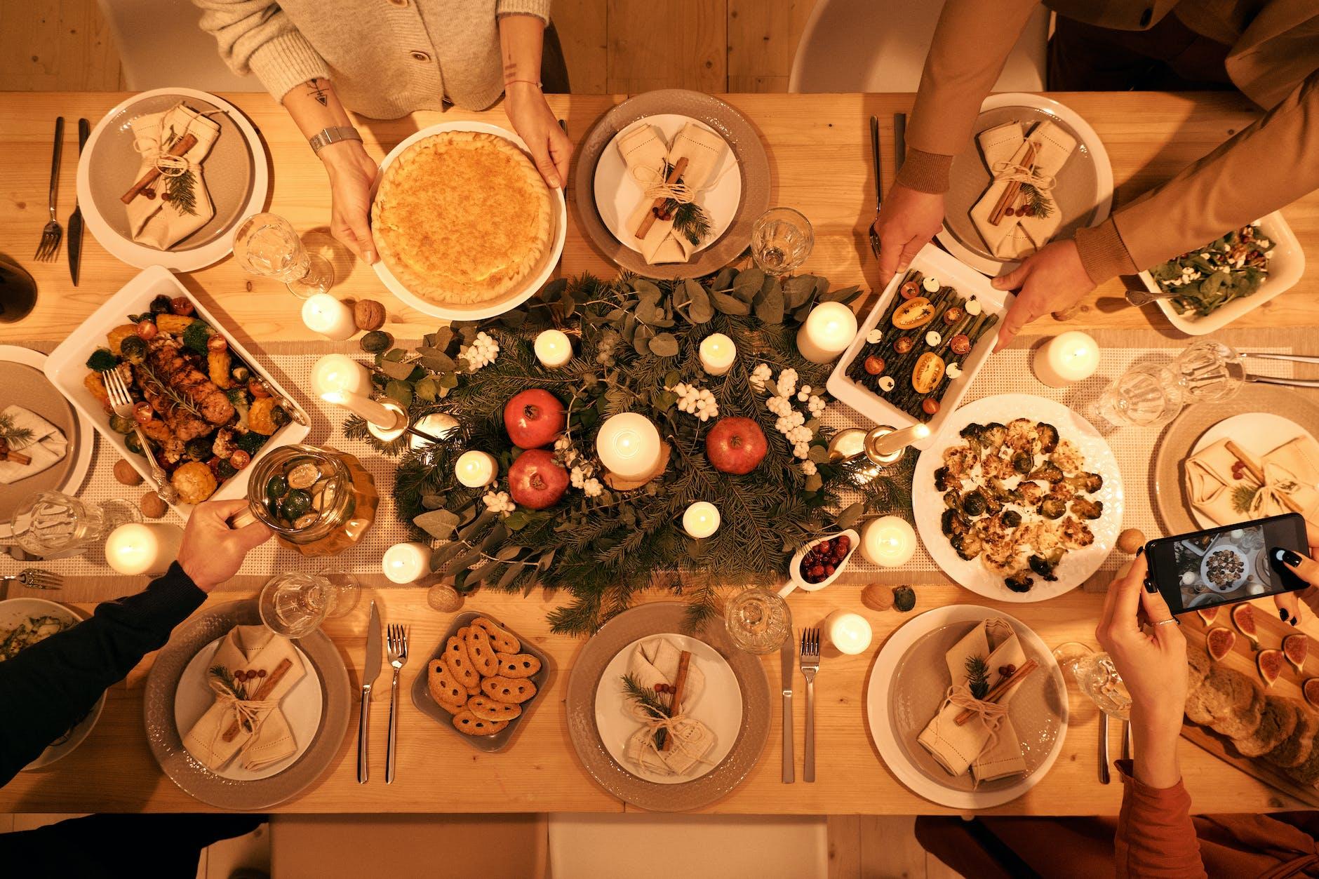 Cena de recetas navideñas