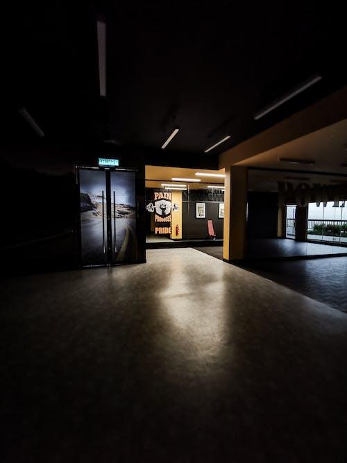 Free stock photo of gym, night