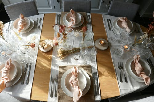 Photo of a Table Set Up