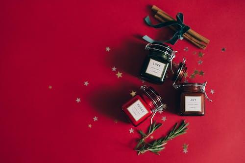 Gratis lagerfoto af flatlay, jul, kanelstænger