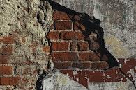 red, bricks, wall
