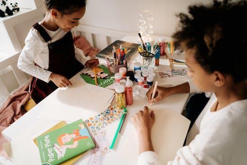 Siblings Doing Artwork Together
