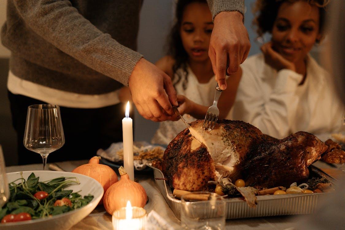 Gratis stockfoto met amerikaanse feestdag, avondeten, binnen