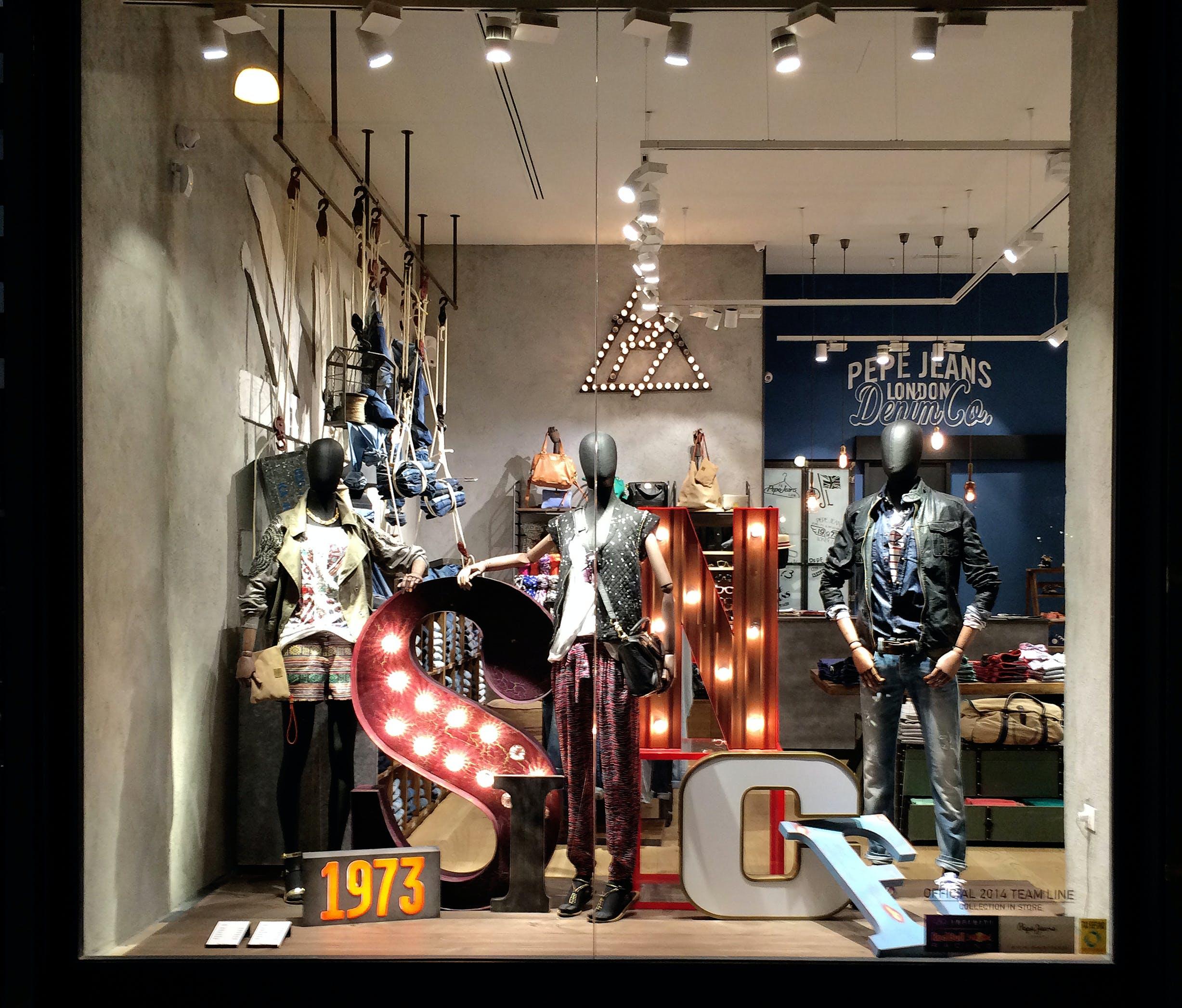 Free stock photo of clothes, dark, display, dress