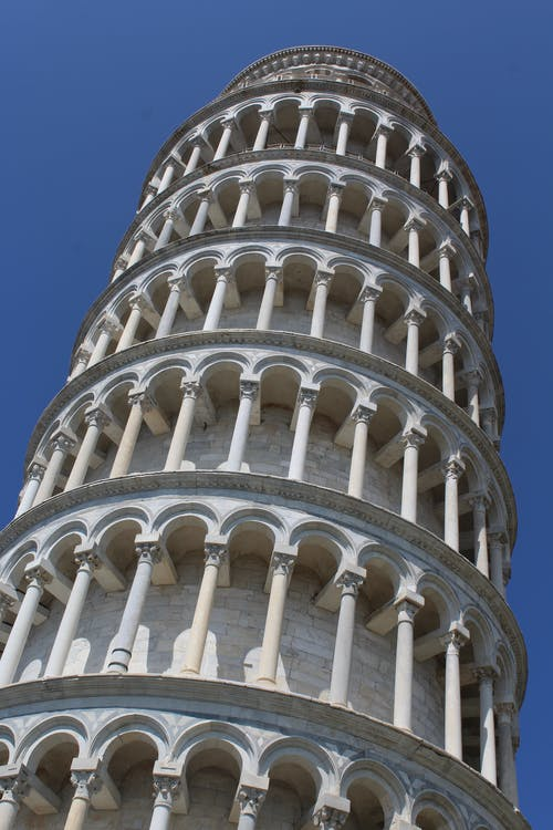 Low-Angle Shot of Leaning Tower of Pisa