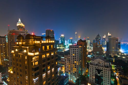 Fotobanka sbezplatnými fotkami na tému architektúra, ázijský, budovy, dlhá expozícia