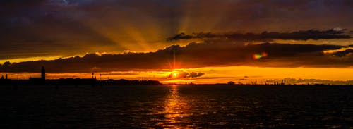 Free stock photo of beautiful sunset, evening sun, light