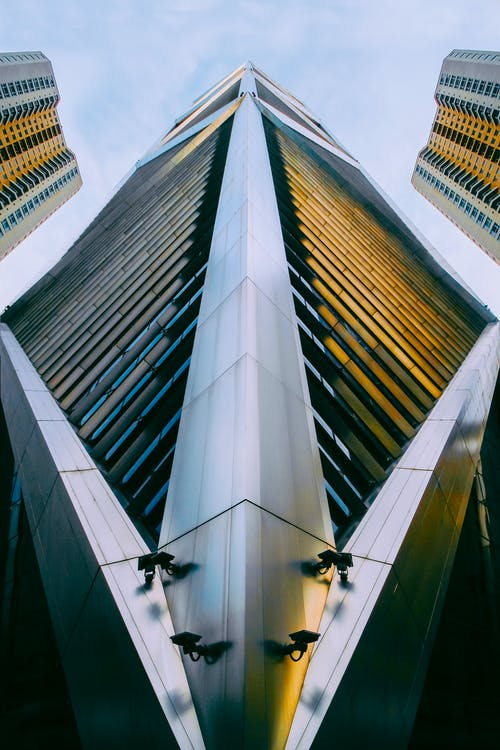 Low-Angle Shot of Tall Modern Buildings
