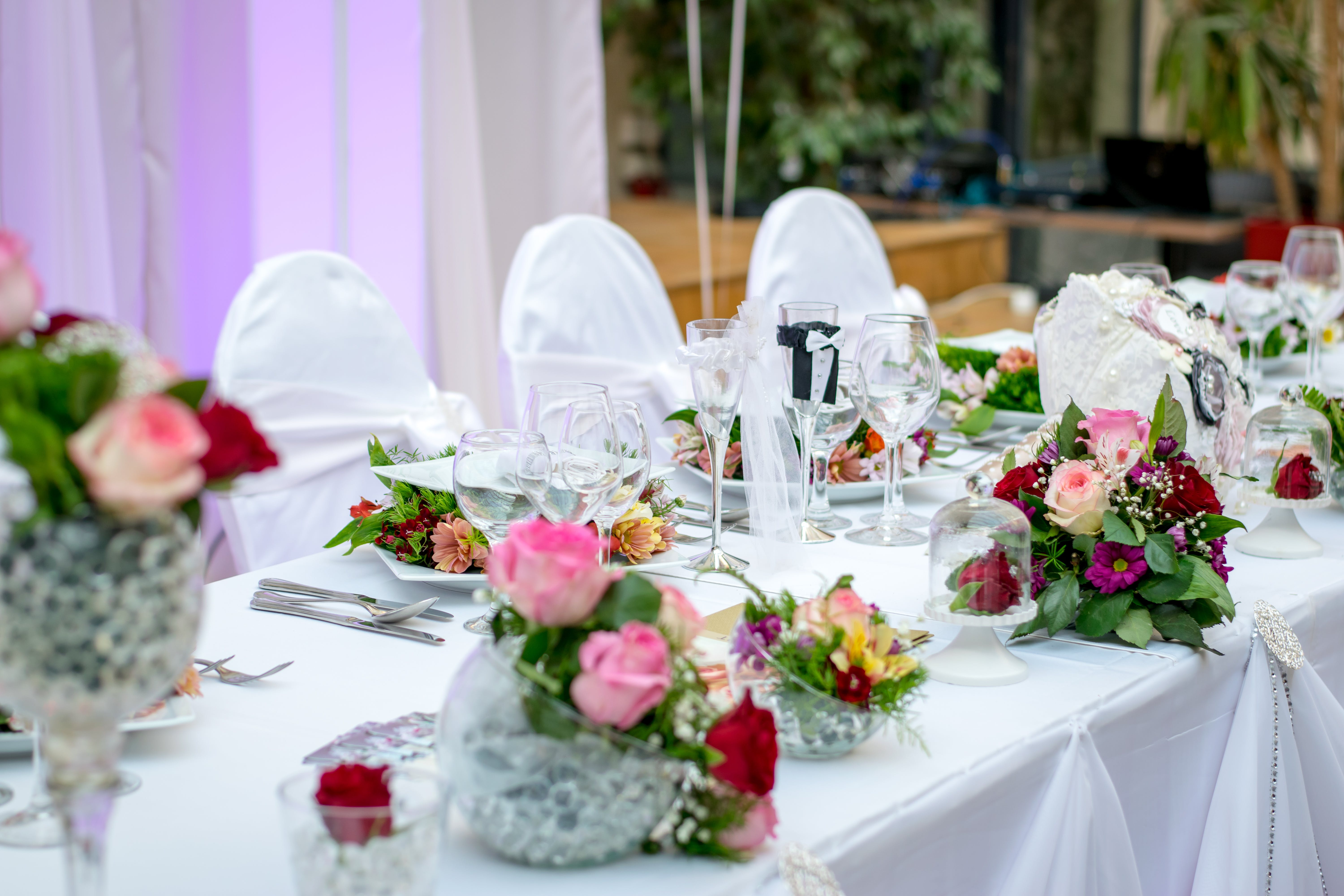catering, decoration, dinner