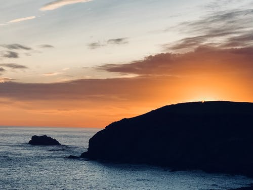 Photos gratuites de coucher de soleil, coucher de soleil sur l'océan, rivage