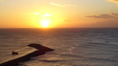 地平線, 太陽, 招手, 新鮮 的 免费素材照片