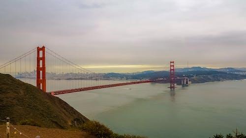 Kostenloses Stock Foto zu brücke, farbe, golden gate bridge, ozean