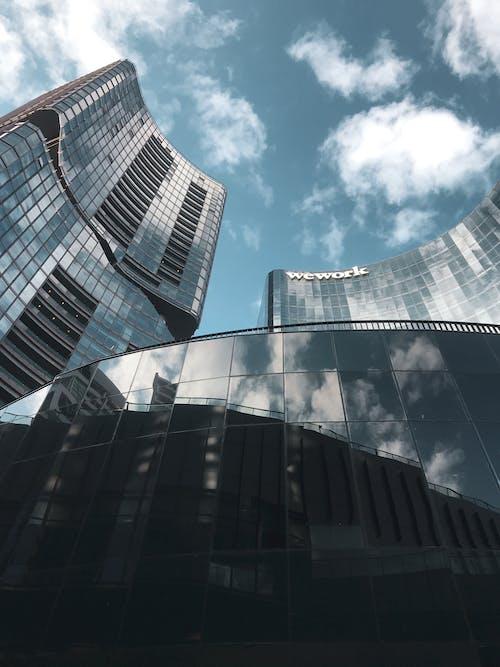 bina, çağdaş, cam içeren Ücretsiz stok fotoğraf