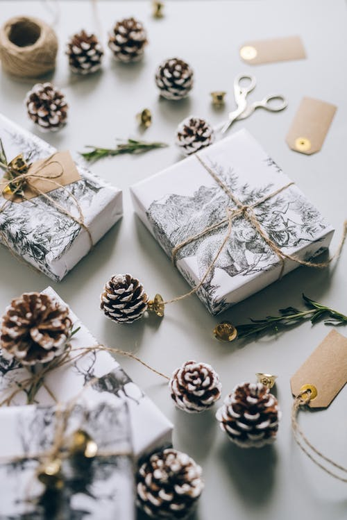 Flat Lay Photo of Christmas Gifts