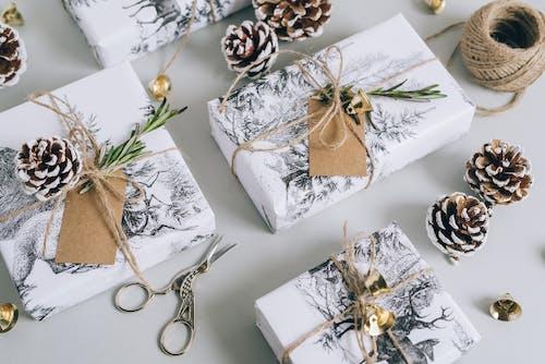 High Angle Shot of Christmas Gifts