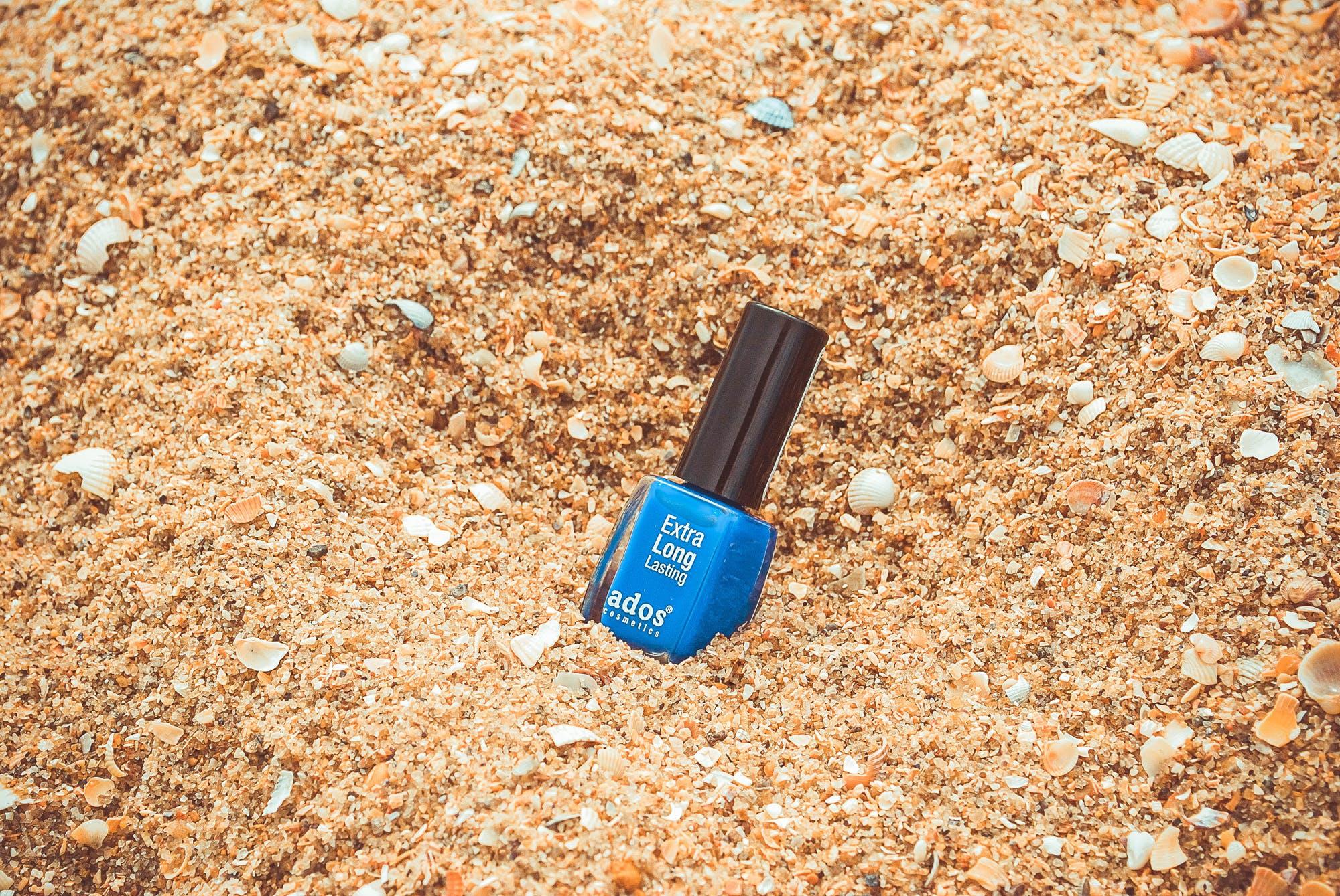 Blue Nail Polish Bottle