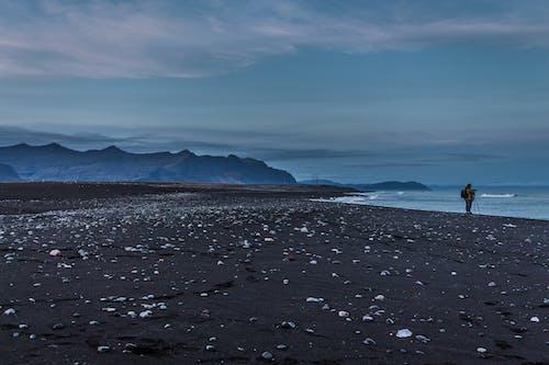 Free stock photo of beach, black sand, blue lagoon, evening