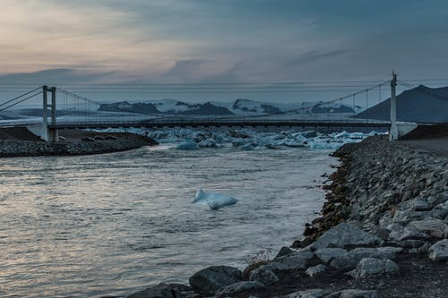 Free stock photo of blue lagoon, bridge, evening, evening light