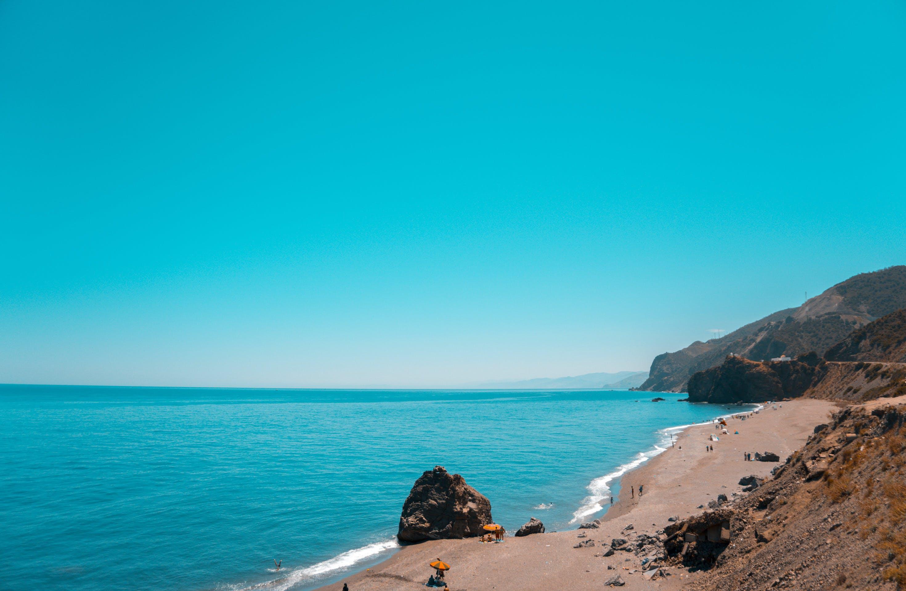 Kostenloses Stock Foto zu am meer, ausflug, blau, fotografie