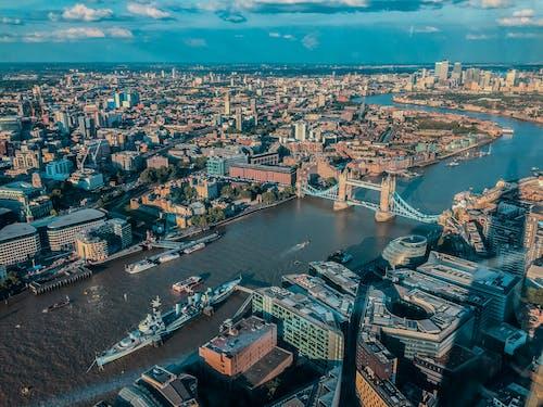 Foto stok gratis fotografi drone, Inggris, kota