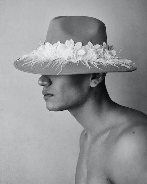 Anonymous man in elegant hat