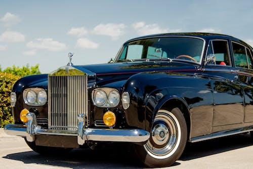 Blue Vintage Car on a Sunny Day