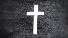 black-and-white, grass, cross